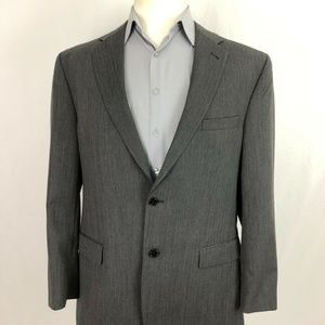 JOS A BANK Mens Wool Gray Sport Coat Blazer 50 L